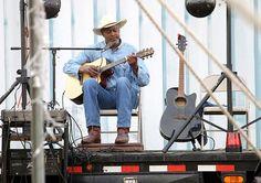 Harold Aldridge in Taft, Oklahoma, music festival, 2014.  See much more on Oklahoma's all-black towns at www.struggleandhope.com