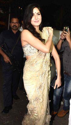 Katrina Kaif at Anil Kapoor's Diwali bash in Mumbai.