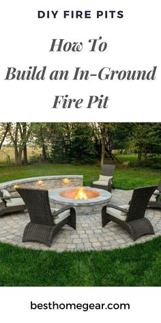 Fire Pit Discover How To Build An In-Ground Fire Pit - Cheapest Options How To Build an In-Ground Fire Pit in an Afternoon. DIY Instructions - Grab The Materials & Finish This Project in Less Than 4 Hours! Fire Pit Seating, Fire Pit Area, Diy Fire Pit, Fire Pit Backyard, Seating Areas, Back Yard Fire Pit, Outdoor Fire Pits, Outside Fire Pits, Cool Fire Pits