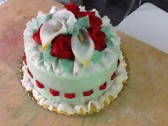 Romantic flower cake