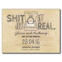 save the date - shit just got real