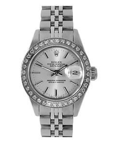 I'm going to get this bezel for my rolex. Rolex Womens 1980s Datejust Diamond Watch