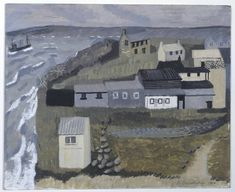 wilhelmina barns-graham(1912‑2004), island sheds, st. ives no. 1, 1940. oil on plywood, 33 x 40.5 cm. tate gallery, london, uk http://www.tate.org.uk/art/artworks/barns-graham-island-sheds-st-ives-no-1-t07546