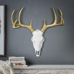 May 2020 - Union Rustic Faux Taxidermy Animal Head Wall Decor Deer Head Decor, Antler Wall Decor, Deer Skull Decor, Deer Mount Decor, Deer Skulls, Cow Skull, Faux Taxidermy, Lodge Decor, Antlers