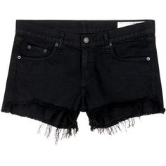 Rag & Bone the Cutoff Shorts in Black Freeport as seen on Lea Michele