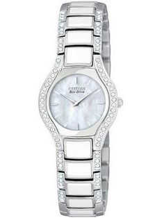 get 50 % off on  Citizen Eco-Drive Silver Tone Normandie Crystal EW9870-72D Womens Watch US $209.00