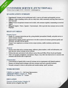 Resume Examples For Customer Service Skills Customer Service Resume Samples  U0026 Writing Guide