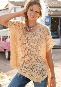 Poloprůsvitný pulovr s odhalenými zády #ModinoCZ #boho #bohostyle #svetr #fashion #móda #summer #léto