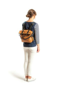 3-in-1 Leather Backpack Convertible Backpack Minimalist Royal