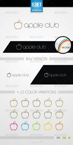 Buy Apple Club Logo by demomusic on GraphicRiver. Apple Club Logo Template Features An excellent logo for food or fruits businesses. All colors and text can be modifie. Food Logo Design, Logo Food, Brochure Template, Logo Templates, Word Template Design, All The Colors, Blue Colors, Apple Vector, Logo Branding