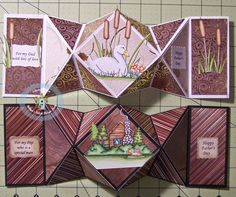 Click here for the CURRENT CHALLENGE .    How to Make a Diamond Fold Card Tutorial     Supplies needed:     scoreboard and bone folder   pa...