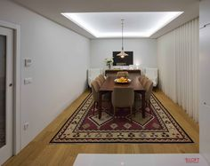 Vista geral da sala de jantar Fotografia: José Lobo