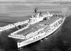 HMS Eagle R-05 at Gibraltar in 1955