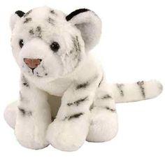 "8"" CK White Tiger Baby Plush Stuffed Animal Toy - New"