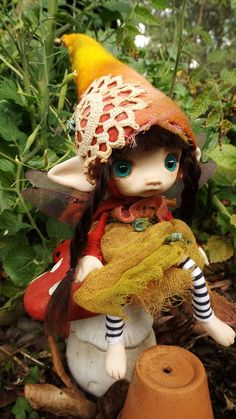 sweet big eyes 7 inch ooak posable fairy by throughthemagicdoor