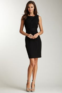 Ellen Tracy Seamed Sleeveless Fitted Dress... Between my work and home style, I love ALL clothes!
