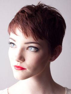 super short hairstyles for girls - colored