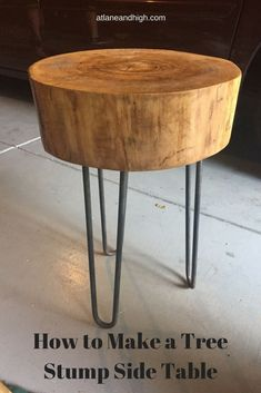 Sometimes you have to make lemons into lemonade right?  If you have to cut down a tree you might as well make something with it.  This is a tutorial on how to make a tree stump side table.  There is also a sneak peek into what else I plan on doing with th