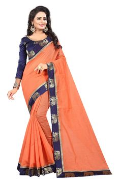 Glory Chanderi Cotton Designer Embroidered Sarees from Stf Store Peach Saree, Best Budget, Indian Beauty Saree, Sari, Clothes For Women, Woman Clothing, Cotton, Collection, Fashion