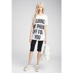 Forever 21 Women's  For You Graphic Tee ($11) ❤ liked on Polyvore featuring tops, t-shirts, white short sleeve t shirt, forever 21 tops, white graphic t shirts, graphic tops and forever 21 t shirts