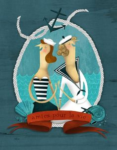 Pinzellades al món: Les il·lustracions de Marie-Eve Tremblay Pirate Illustration, Children's Book Illustration, Illustrations, Thank You Greeting Cards, French Crafts, Kids Story Books, Cartoon Kids, Art Plastique, Creative Art