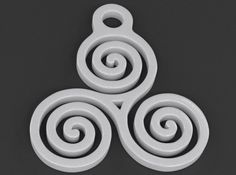 Triskelion Pendant 05 - The Triskelion, aka Triskele, is a mystic and ancient…