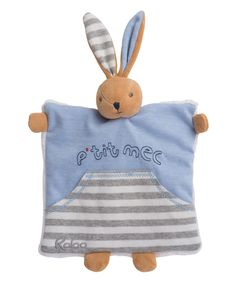 Love this Kaloo Denim Gutsy Rabbit Doudou Lovey Blanket by Kaloo on #zulily! #zulilyfinds