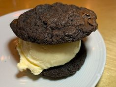 Is there anyone out there who doesn't like cookies and ice cream? Dessert like this is a great way to end your nomnom adventure at Haikan. This dessert is not overly sweet with a chocolate cookie and vanilla ice cream. Ramen Restaurant, Chinese Restaurant, Ice Cream Cookie Sandwich, Sandwich Cookies, Lunch Menu, Dinner Menu, Mozzarella Curd, Dc Food, How To Make Ramen