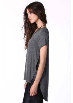 Rachel Basic Top in Charcoal | Necessary Clothing