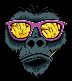 Monkey bananas glasses