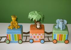 Baby jungle train cake!