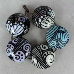 Pastel butterflies  bead set by Glasting on Etsy
