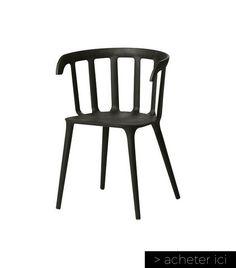 Chaise+à+accoudoirs+noire+PS+2012+IKEA