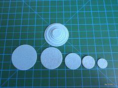 Blue felt circle set 100pcsdie cut felt circlecraft by DGNCY