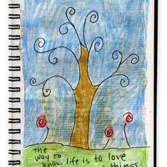 Art Journaling Collage Drawing