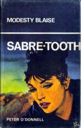 Modesty Blaise: Sabre-Tooth. Souvenir Press hardcover, 1966 by Jim Holdaway http://www.modestyblaisebooks.com/