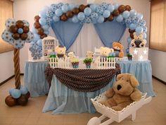 Resultado de imagen para mesas de doces para casamento azul