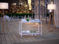 FLAIR - Garden service trolley by Atmosphera srl Food Trolley, Trolley Cart, Online Furniture, Furniture Design, Table Decorations, Garden, Collection, Home Decor, Google