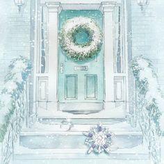 sketch for tiffany & co window