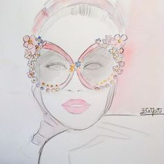 Dolce & Gabbana SS 2016 | Ele Marti Illustration Instagram Images, Instagram Posts, Fashion Art, Illustration Art, Photo And Video, Drawings, Faces, Fashion Illustrations, Infinity