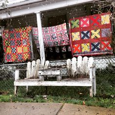 Quilts in the rain... Gold Hill, Oregon.