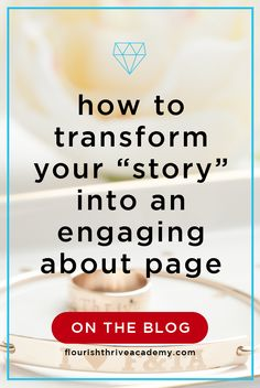 "Episode 77 of #ThriveByDesign :: How to Transform Your ""Story"" into an Engaging About Page with Allison Morgan and Liz Read"