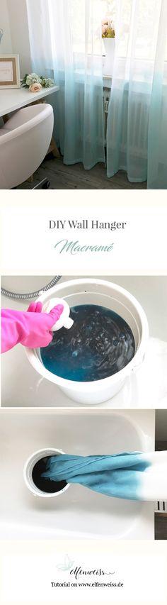 Easy DIY - Dip-dye Vorhänge färben - Farbverlauf mit Ombre-Effekt für eure Gardinen.