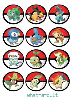 36 pokemon cake topper /cupcake/muffin mini game by WHATaCULT