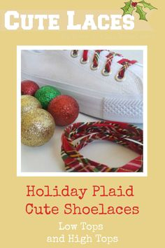 Holiday Shoelaces - Traditional Red Plaid - Christmas Tartan Check - Red and Gold Shoestrings - Stocking Stuffer - Shoestrings Christmas Shoes, Plaid Christmas, Family Christmas, How To Lace Converse, Converse Shoes, Red Gifts, Santa Gifts, Tartan Shoes, Stocking Stuffers