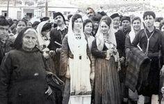 Τraditional wedding in eastern Crete. Greece Pictures, Old Pictures, Old Photos, Crete Island, Greece Islands, Crete Greece, Athens Greece, Greek Traditional Dress, Heraklion