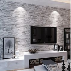 Stone Brick Wall Paper Living Room Walls Wallpaper Rolls for Kids Room