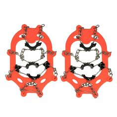 2x Ice Cleat Shoe Boot Tread Grips Traction Crampon Chain Spike Winter Sport Snow w/ Pouch Carabiner. Easily fit the shoes of US size 5-10 ( Europe Size: 35-44 ). Easy on/off to fit boots, sneakers, casual and dress shoes-- Wrap the front around your toe section, then stretch the back around your heel. Thermoplastic elastomer with excellent elastic & high density manganese steel to ensure the maximum durability. Securely attached to your footwear & these slip-on spikes can dig into all…