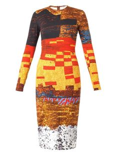 Cookie Lyon (Taraji. P Henson) wore a Givenchy Pixelated mosaic-print jersey dress on #EmpireFOX (TBD) #Empire #TeamCookie