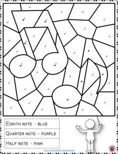 Music lessons  |  Music Coloring Page: Free Music Activity to download now |  #musiceducation    #musiced
